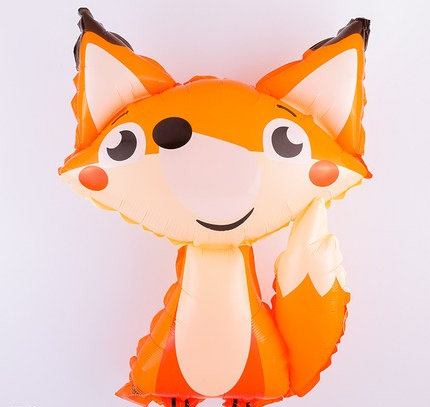 45x35cm Cartoon Fox Bright Foil Balloon