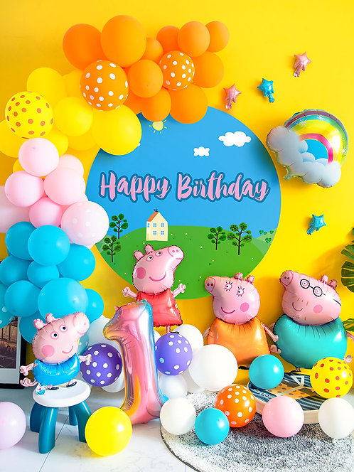 Peppa Pig Theme Baby Shower Decorations