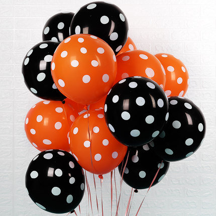 Halloween Balloons 10pcs (Orange & Black )