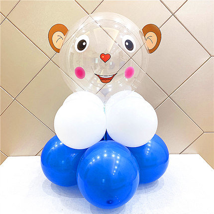 22 inch Jumping Monkey Transparent Latex Balloon Set