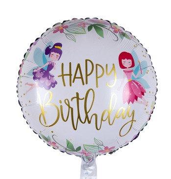 18 inch Flower Fairy Happy Birthday Foil Balloon