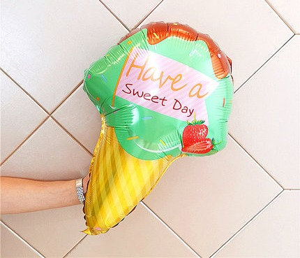 69x47cm Have a Sweet Day Ice Cream Foil Balloon