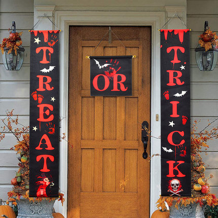 Trick or Treat Halloween Banner for Home Indoor/Outdoor