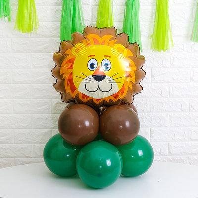1pcs 55cm x 55cm Lion Foil Balloon with 8pcs Standard Balloons