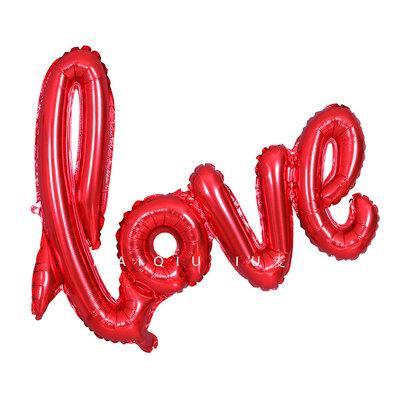 108cm X 64cm Large Love Red Balloon