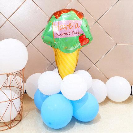 Green Ice Cream Balloon Set