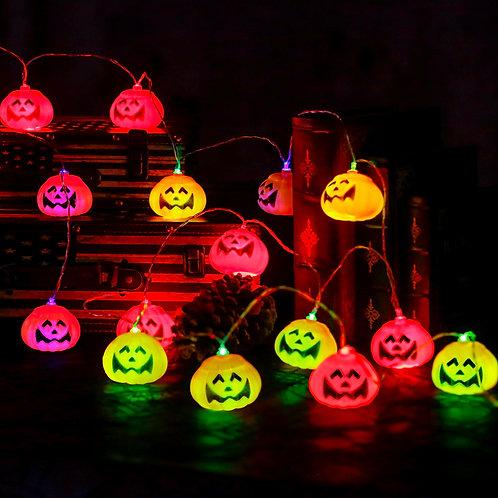 16pcs Halloween Pumpkin Shaped Bulb String Light Colourful