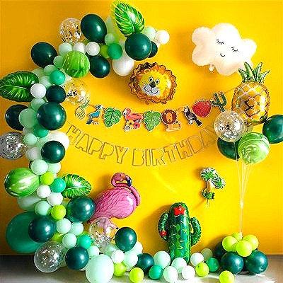 Tropical Rainforest Theme Balloon Party Box