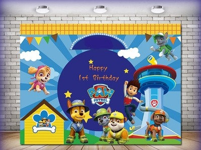 Paw Patrol Photography Background Eco Polyester Backdrops 2m x 1.5m