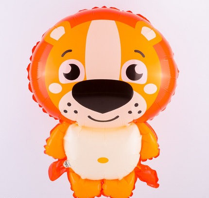 45x35cm Cartoon Lion Bright Foil Balloon