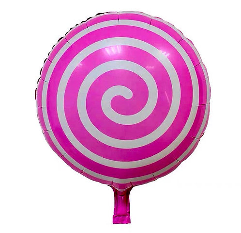 Lollipop Foil Balloon Pink Blue Green Red 4 Pcs 400*400mm