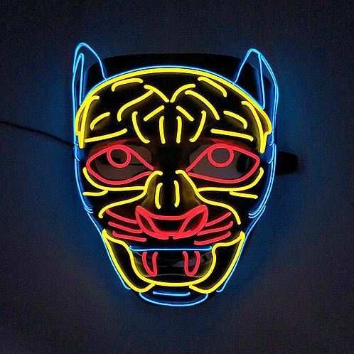 Halloween Light Up Glowing Animal Face Mask Handmade