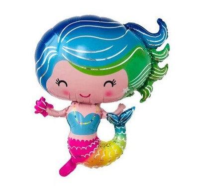 70x60CM Rainbow Mermaid Foil Balloon