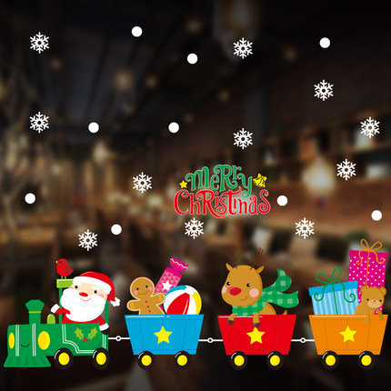 Tracless Christmas Train Travel and Christmas Related Decorations Sticker