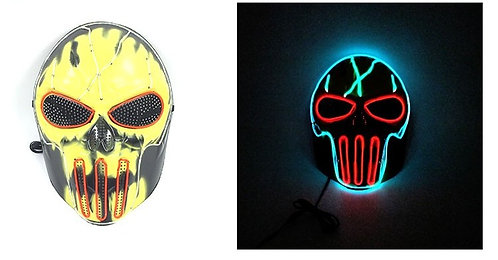 Halloween Light Up LED CS Ghost Fire Mask  Handmade