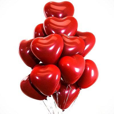 10pcs Heart Shaped Round Latex Balloon