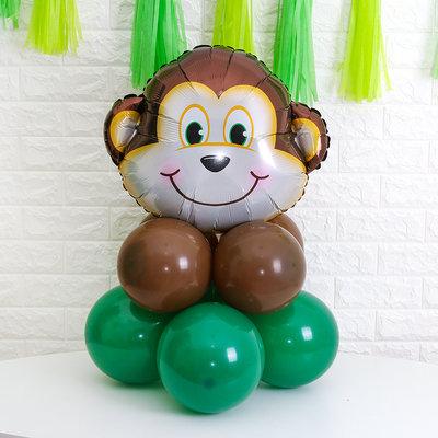 1pcs 53cm x 60cm Monkey Foil Balloon with 8pcs Standard Balloons