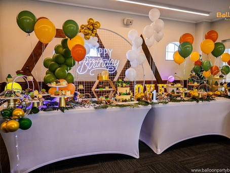 Jungle safari themed party brings color to the first birthday celebrations