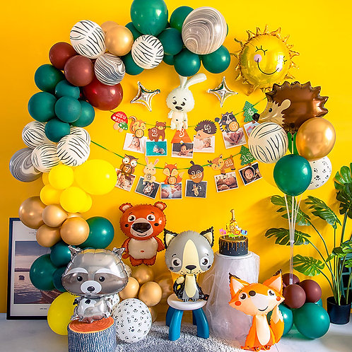 Happy Animals Birthday Balloon Party Box