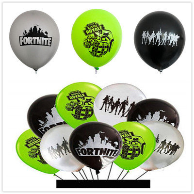 Fortnite Video Games Mixed Colour Balloons 10 Pcs