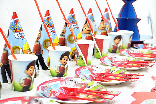The Paw Patrol Party Table Decorations for 6 Kids