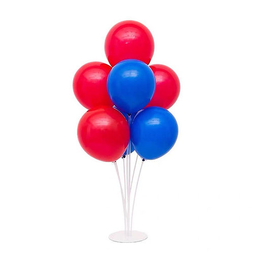 Red & Blue Table Stand Decoration Balloons