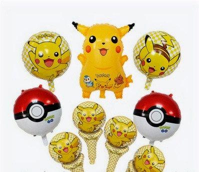 PikachuTheme BalloonParty Box - 9pcs