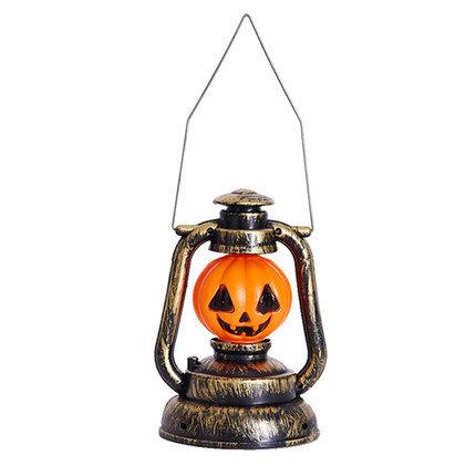 Halloween Pumpkin Skull Witch Lantern Lamp With Light