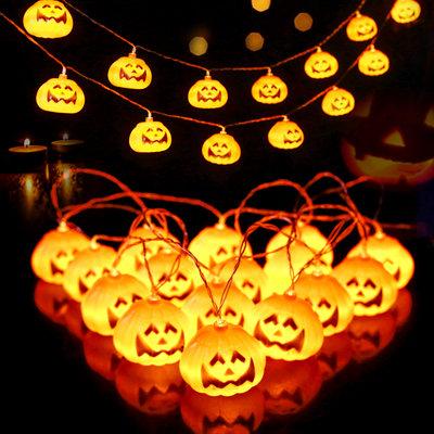 16pcs Halloween Pumpkin Shaped Bulb String Light