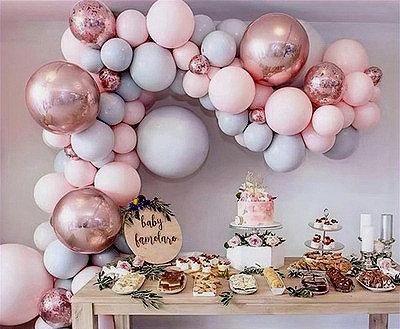 Macaron Pink Balloon Garland Kit