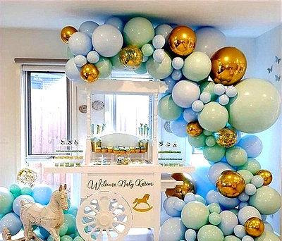 Baby Shower Blue Balloon Garland Kit