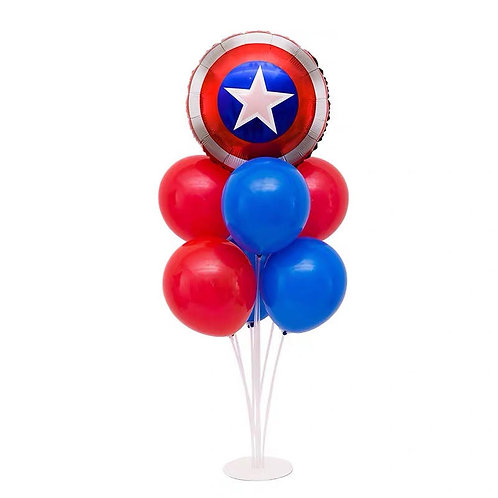 Captain America Shield Table Balloon Stand Decoration