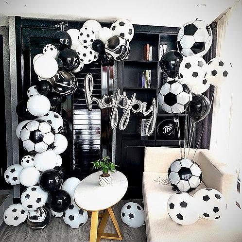Soccer Themed Balloon Party Box