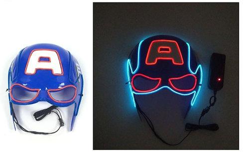 Halloween Light Up LED Captain America Mask Handmade