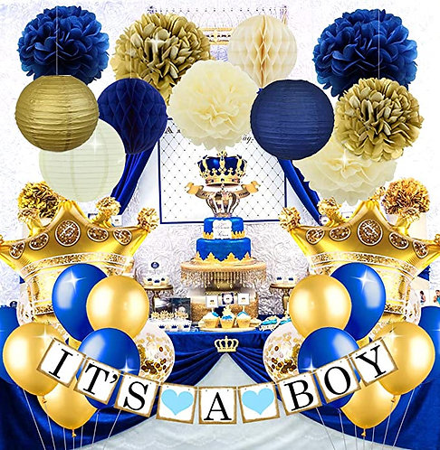 Royal Prince Baby Shower Decorations