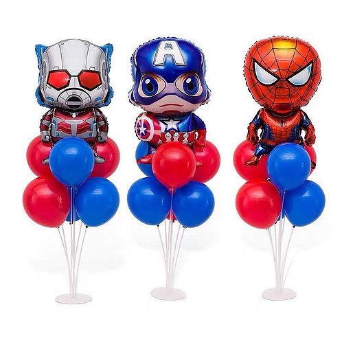 Avengers Theme Table Balloon Stand Decoration Set  for 3