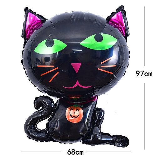 Halloween Black Cat Foil Balloon