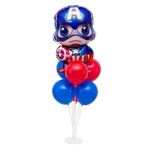 Captain America Table Balloon Stand Decoration