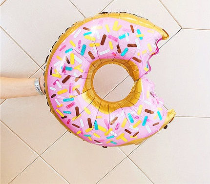 71x43cm Sprinkled Donut Foil Balloon