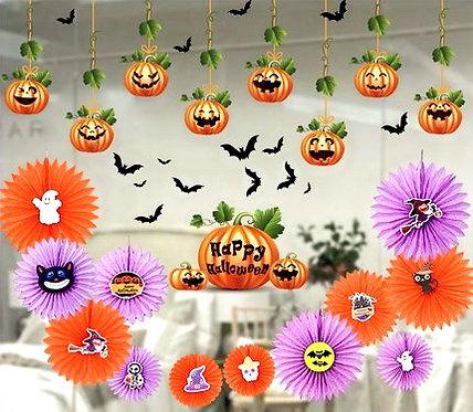 Halloween Party Decor Kit - Window Stickers
