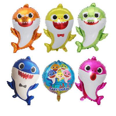 49cm X 66cm Baby Shark Family Shape Balloon Set 6Pcs