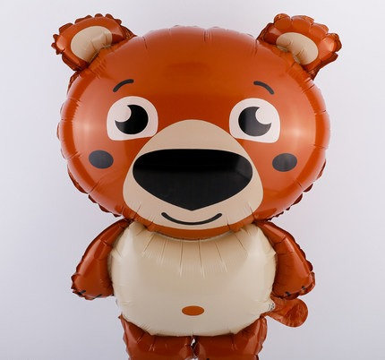 62 x 44cm Cartoon Bear Bright Foil Balloon