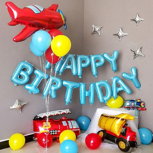 Transportation Theme Balloon Party Box Set A