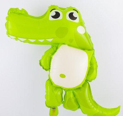 40x 30cm Cartoon Crocodile Bright Foil Balloon