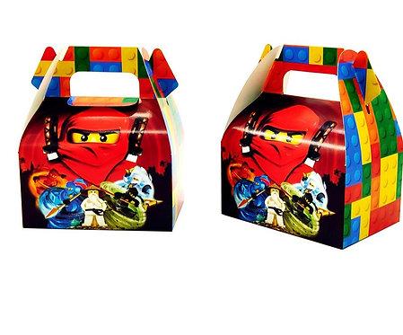 6Pcs Ninjagoing Theme Party Box