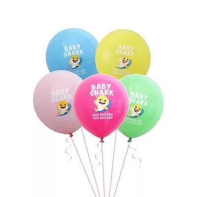 5Pcs Latex  Baby Shark Balloon