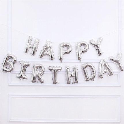 16 inch Happy Birthday SilverBalloons Set
