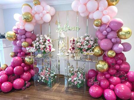 Steps to a DIY balloon garland