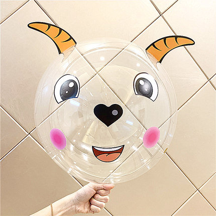 22 inch Pleasant Goat Transparent Latex Balloon