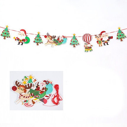 3m Golden Power Santa Claus and Christmas Tree Banner